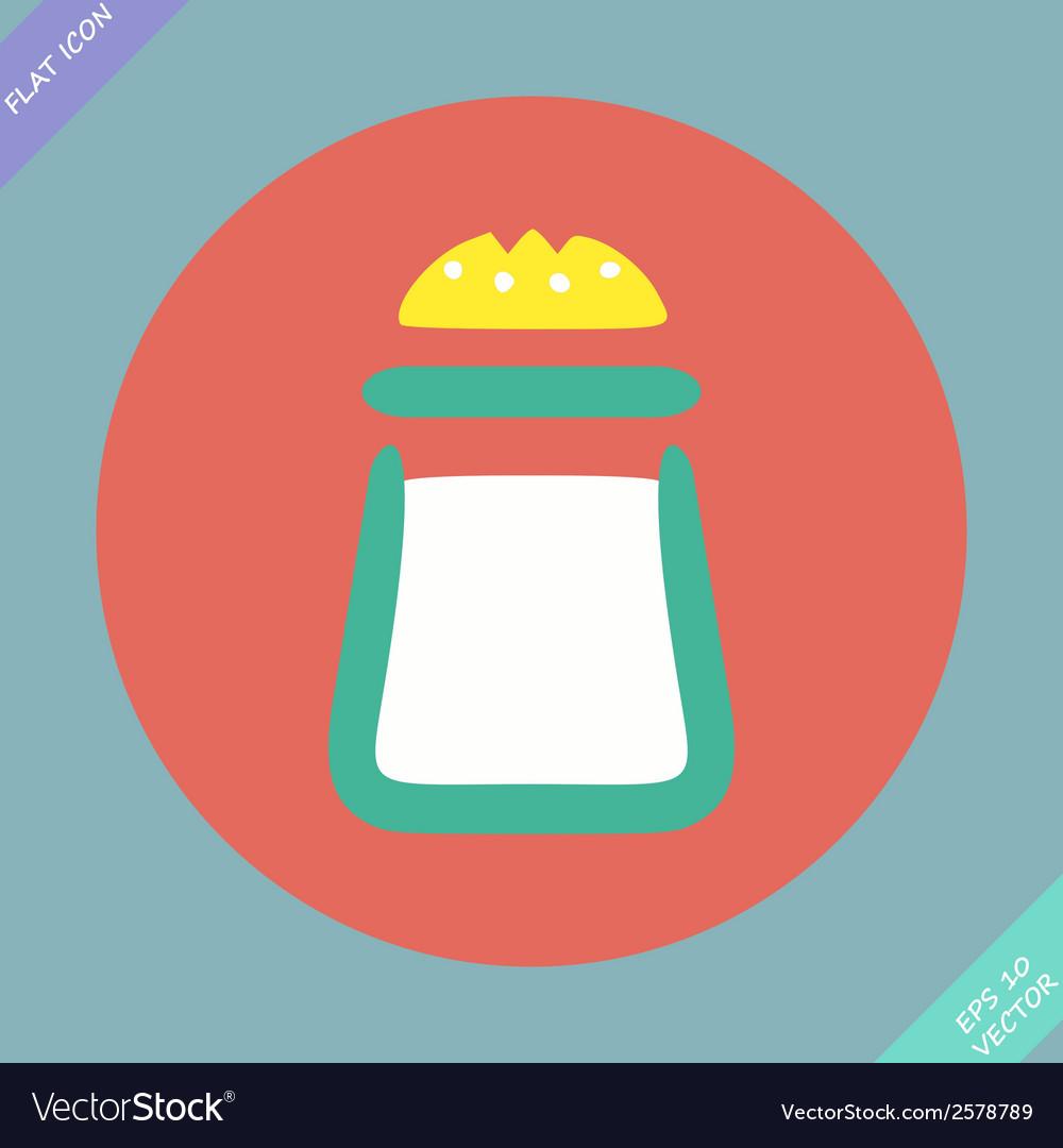 Salt icon - vector | Price: 1 Credit (USD $1)