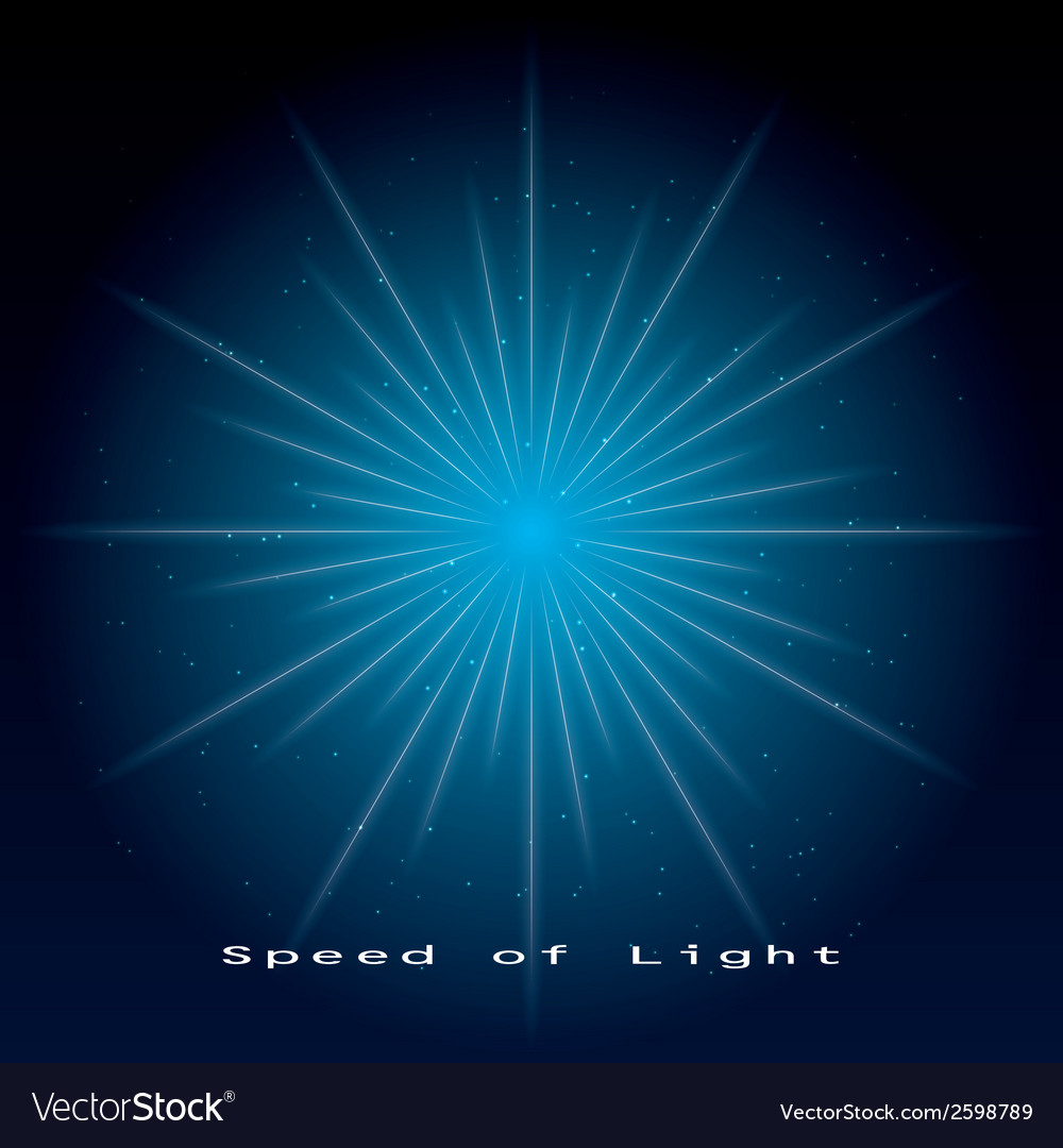 Speed of light vector | Price: 1 Credit (USD $1)