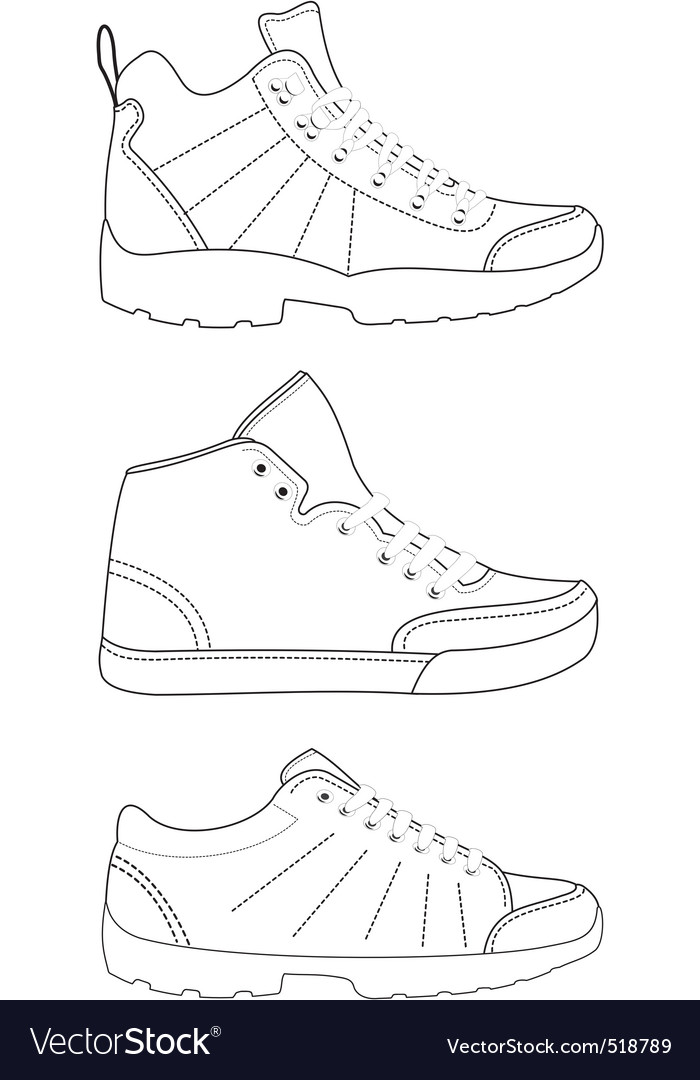 Sports footwear vector | Price: 1 Credit (USD $1)