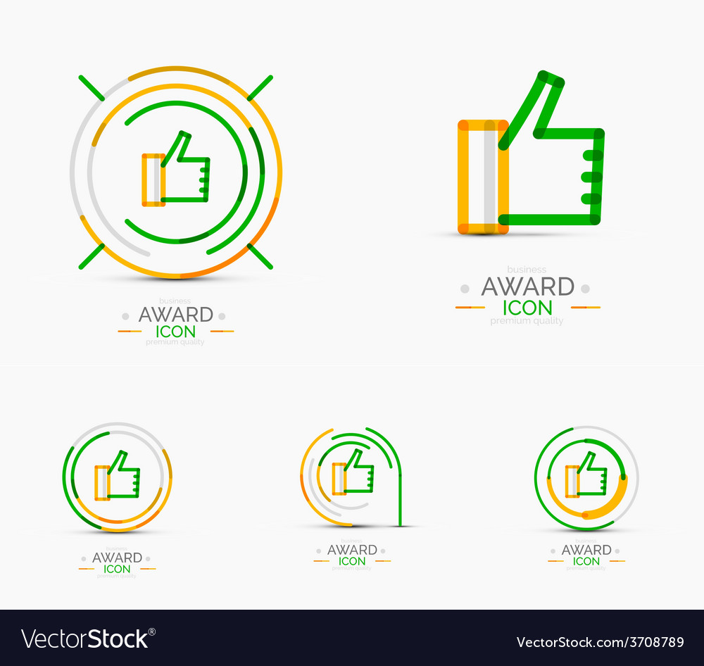 Thumb up icon logo design vector | Price: 1 Credit (USD $1)
