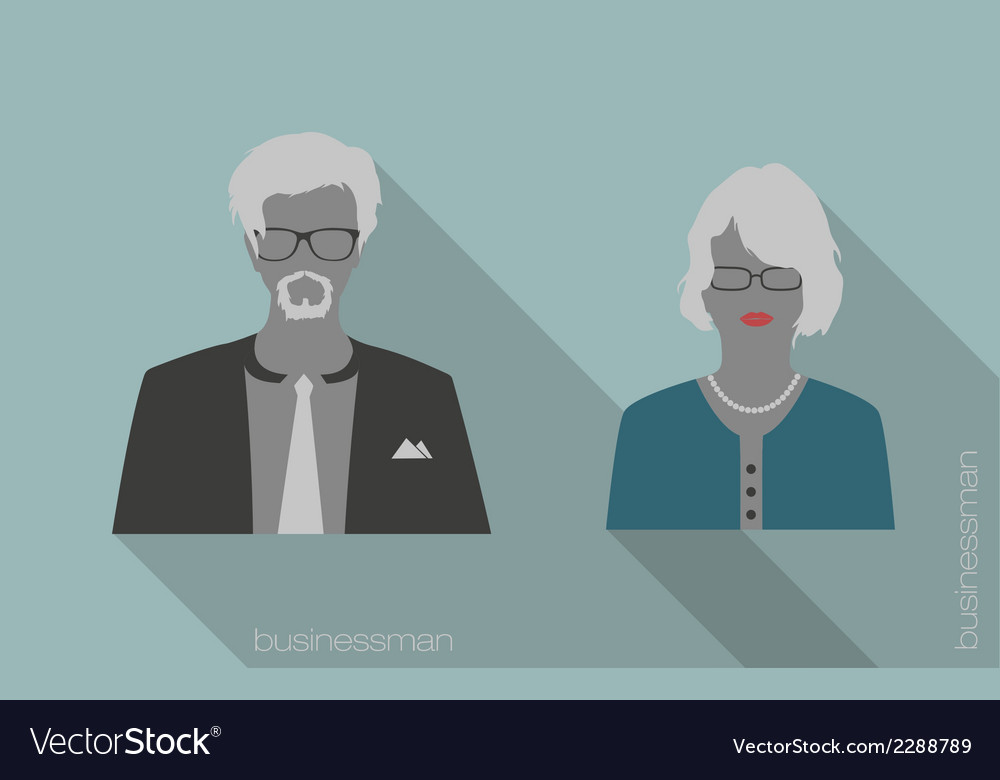 Woman and man businessman icons vector | Price: 1 Credit (USD $1)