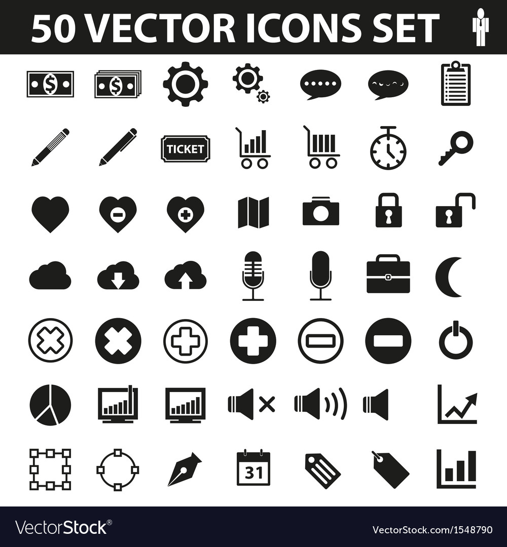 50 icons set vector   Price: 1 Credit (USD $1)