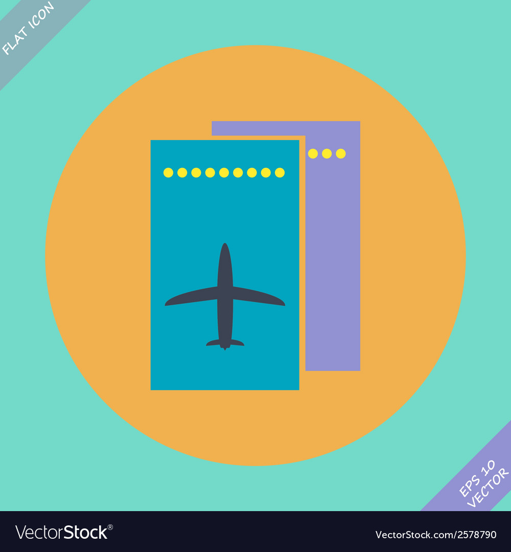Airfare icon - vector | Price: 1 Credit (USD $1)