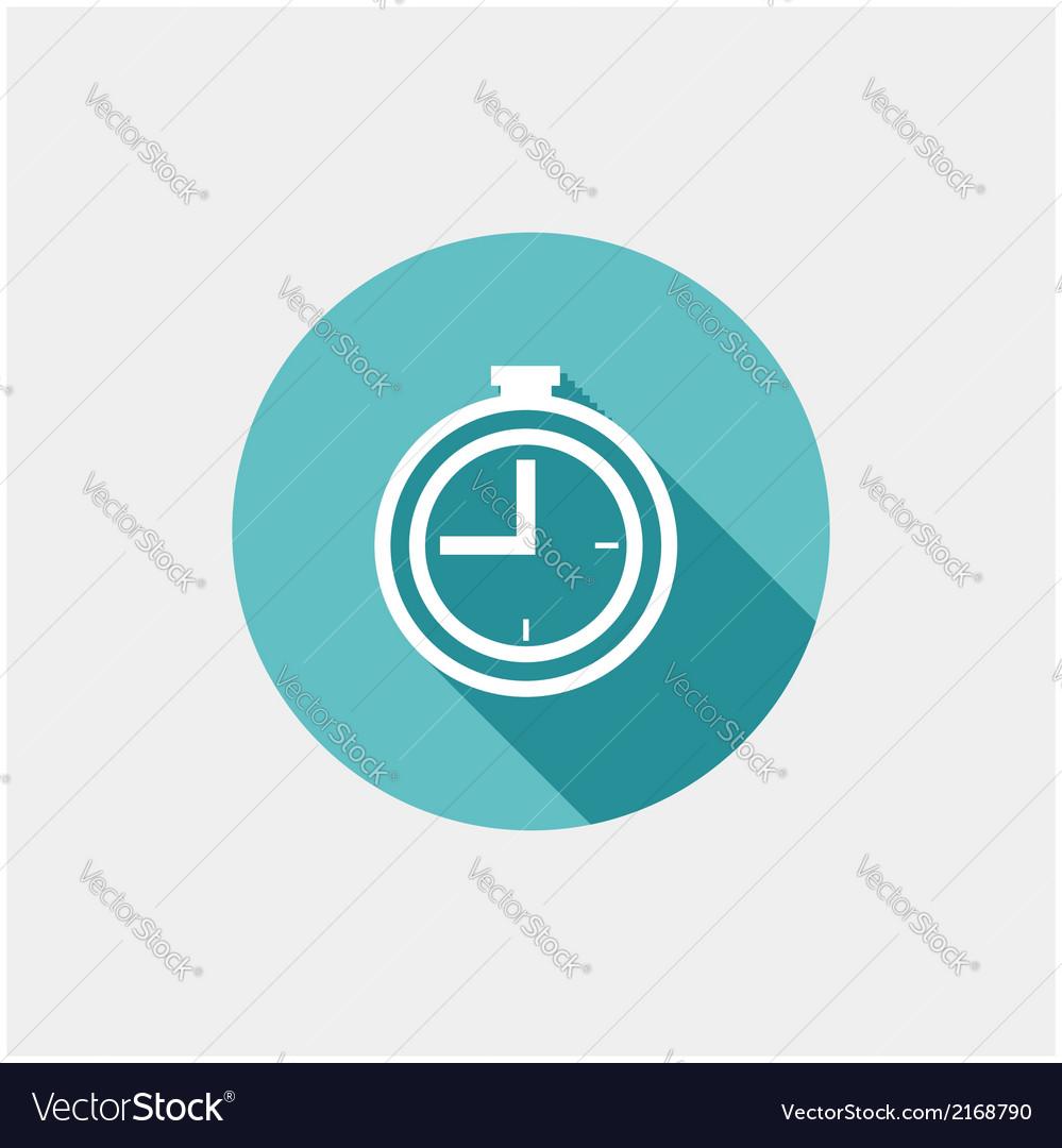 Clock flat icon vector   Price: 1 Credit (USD $1)