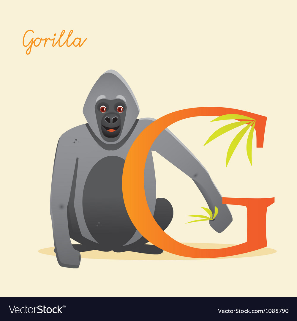 G for gorilla vector | Price: 1 Credit (USD $1)