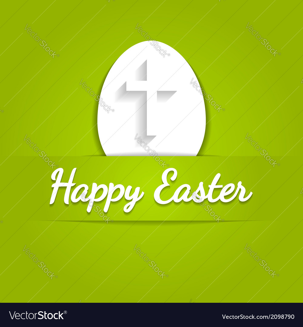Happy easter eggs card with cross symbol over vector | Price: 1 Credit (USD $1)