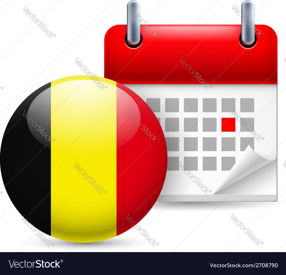 Icon of national day in belgium vector   Price: 1 Credit (USD $1)