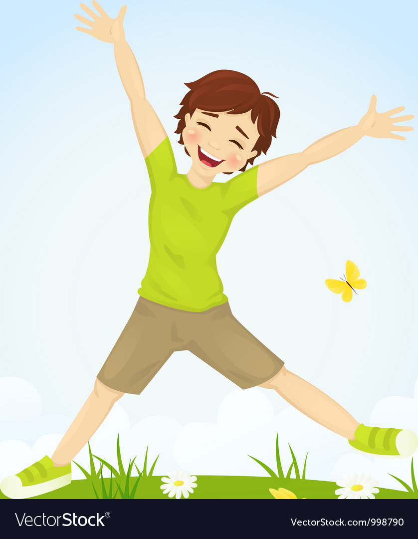Jumping boy vector | Price: 3 Credit (USD $3)