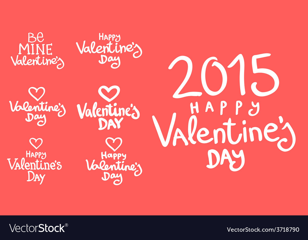 Lettering day happy valentine for card vector   Price: 1 Credit (USD $1)