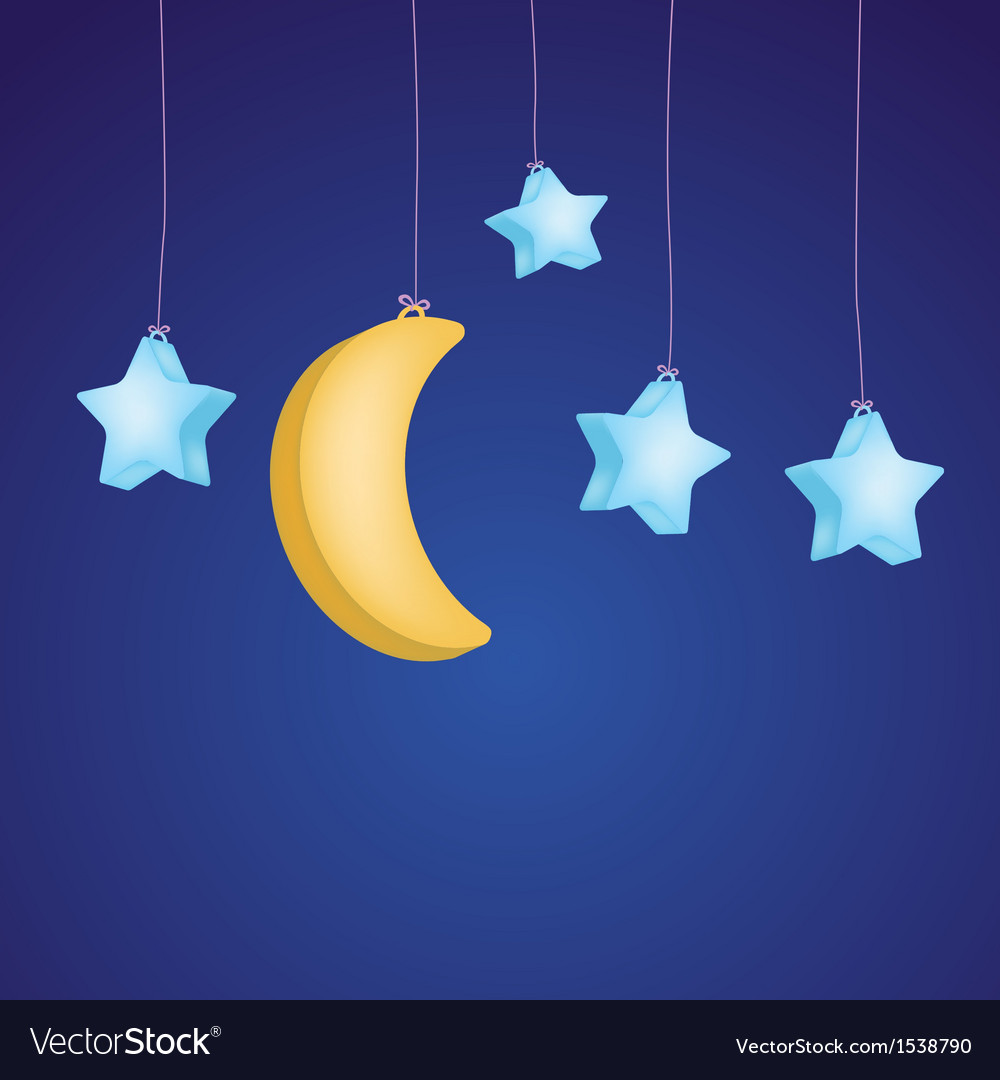 Moon and stars vector | Price: 1 Credit (USD $1)