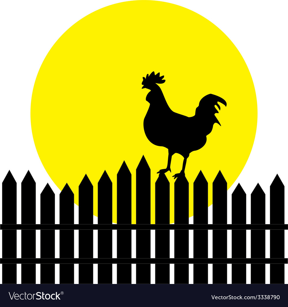 Silhouette of rooster vector | Price: 1 Credit (USD $1)