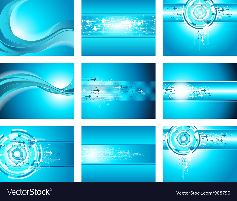 Site blue wave and arrows background collection vector | Price: 1 Credit (USD $1)