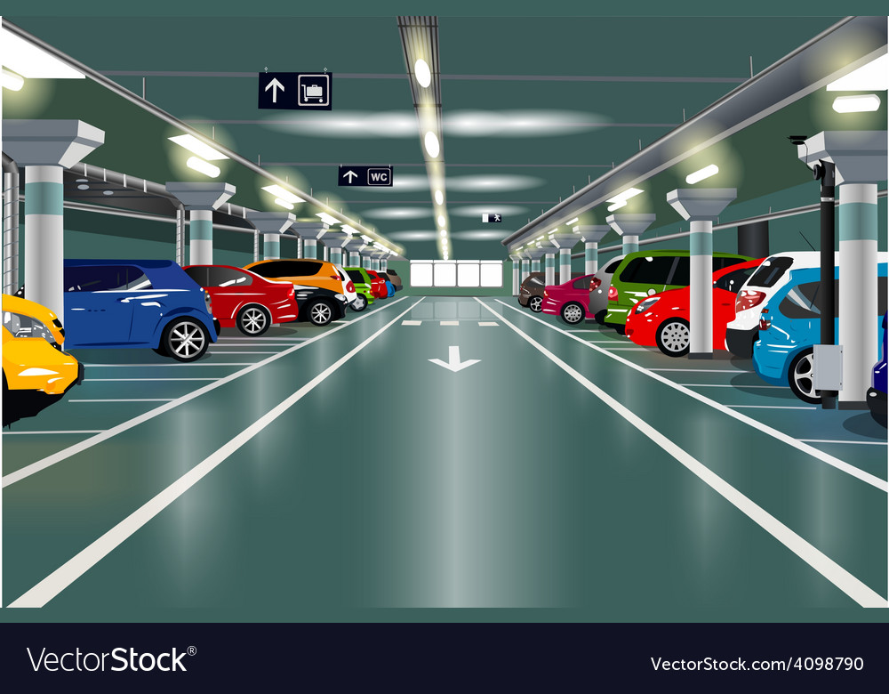 Underground parking vector | Price: 3 Credit (USD $3)