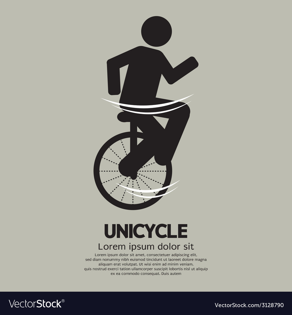 Unicycle graphic sign vector