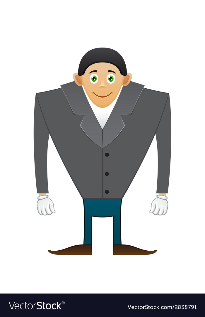 Broad shoulders office man vector | Price: 1 Credit (USD $1)