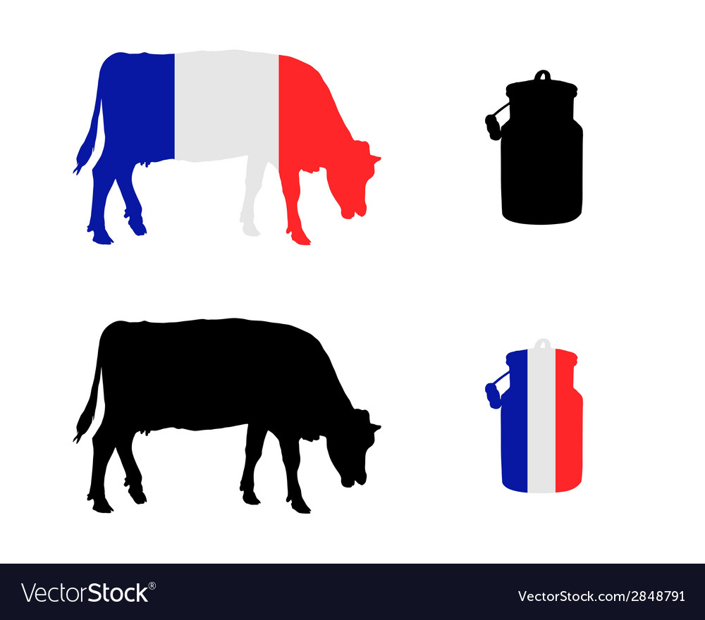 French milk cow vector | Price: 1 Credit (USD $1)
