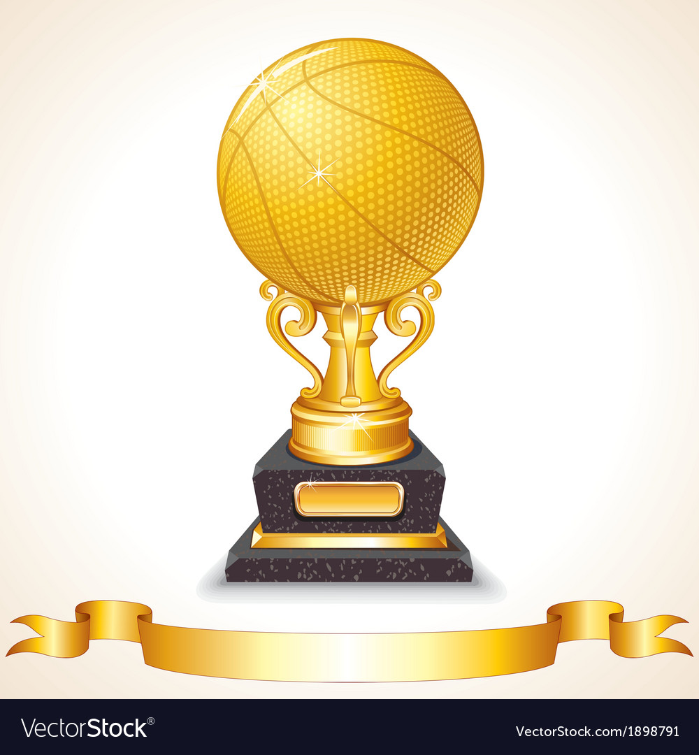 Golden basketball cup vector | Price: 1 Credit (USD $1)