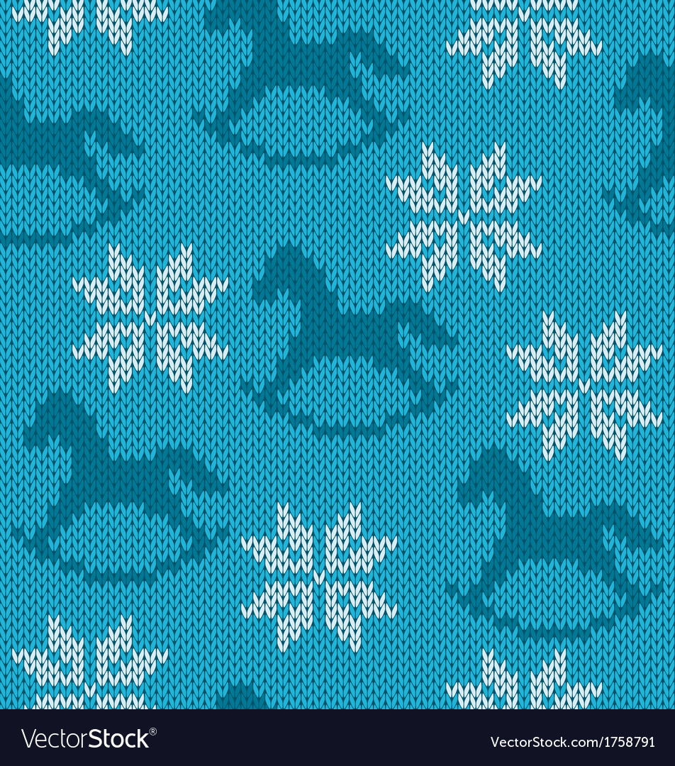 Knitted background with image of snowflakes and vector | Price: 1 Credit (USD $1)