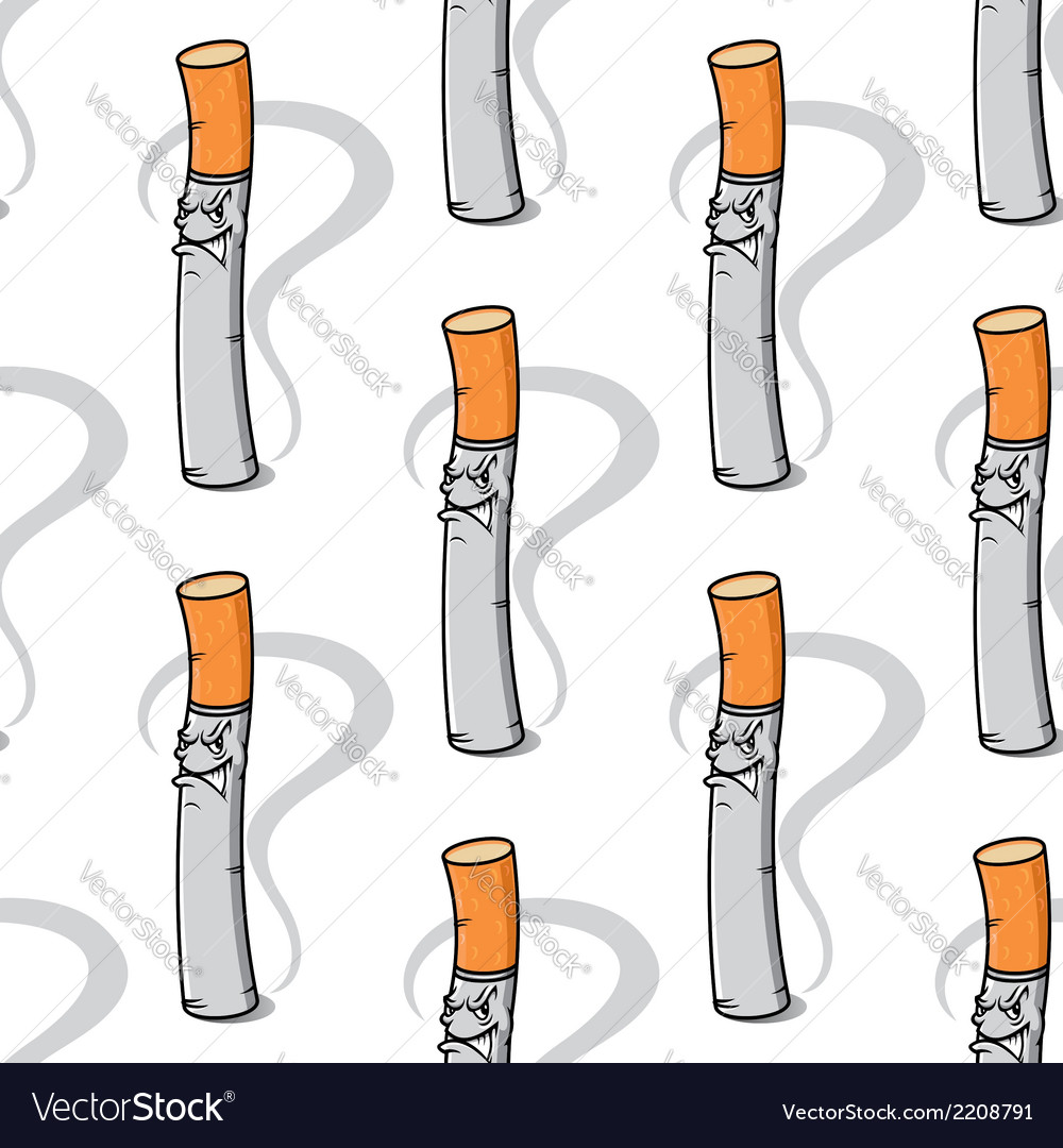 Seamless pattern of an evil little cigarette vector | Price: 1 Credit (USD $1)