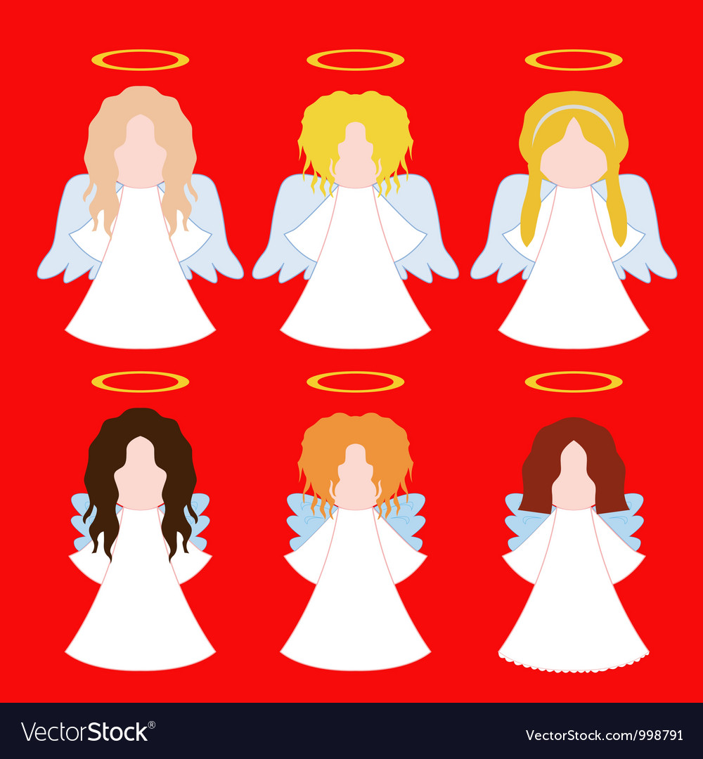 Set of simple angels vector   Price: 1 Credit (USD $1)