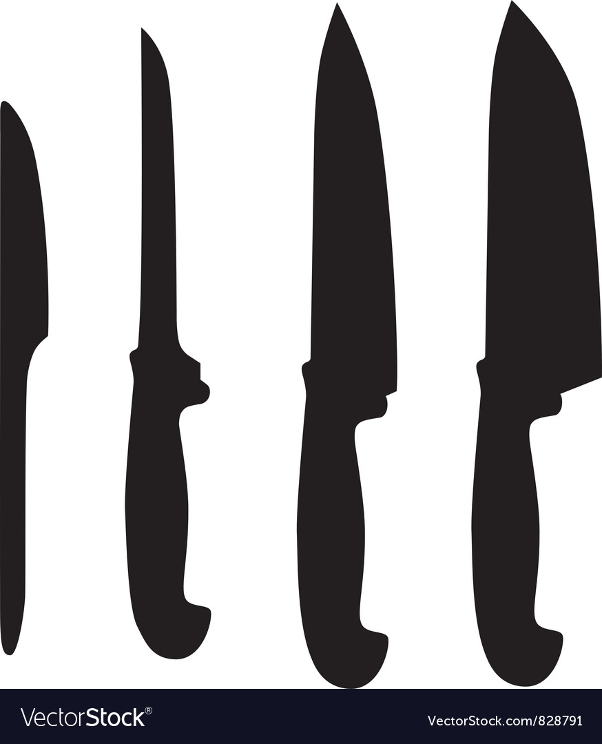 Set of table knifes vector | Price: 1 Credit (USD $1)