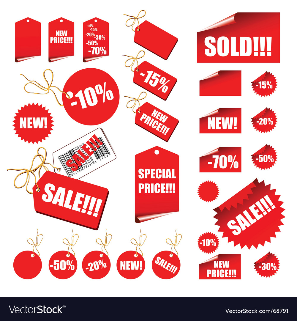 Shopping retail sales tags vector | Price: 1 Credit (USD $1)