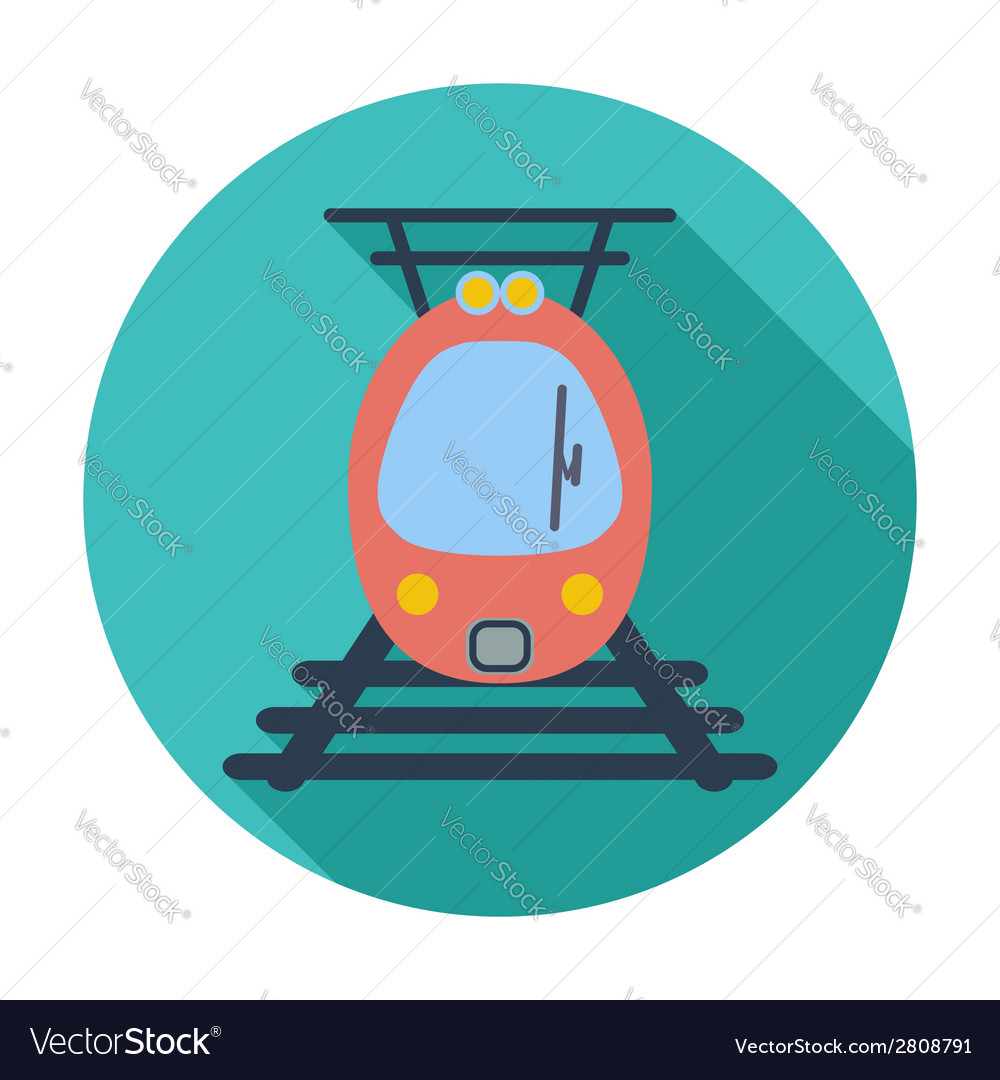 Suburban electric train vector | Price: 1 Credit (USD $1)