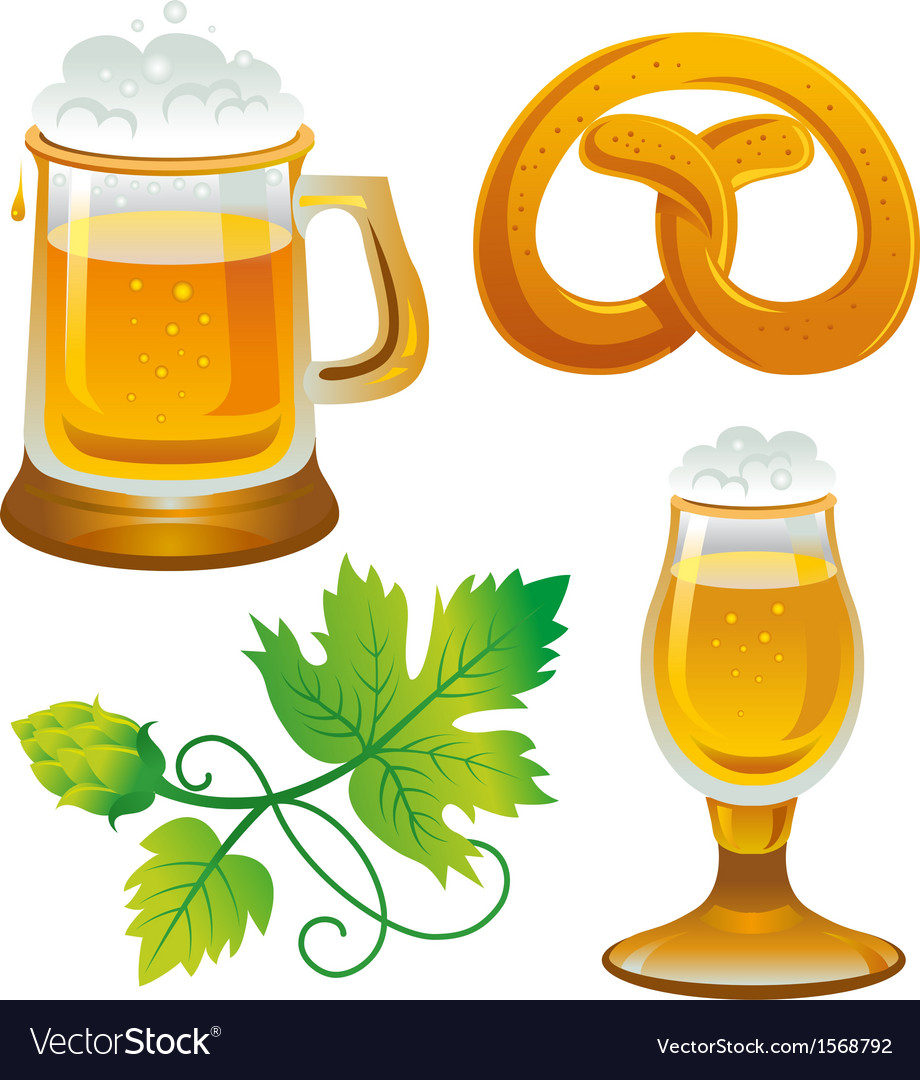 Beer set collections for oktoberfest vector | Price: 1 Credit (USD $1)