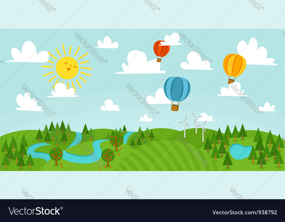 Colorful landscape vector | Price: 1 Credit (USD $1)