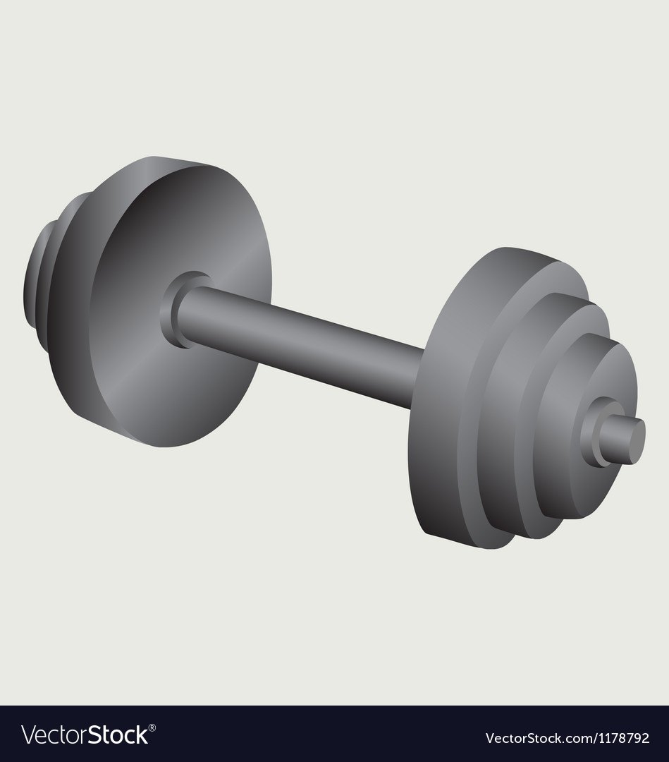 Dumbbell weight vector | Price: 1 Credit (USD $1)