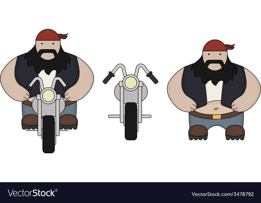 Fat biker with motorcycle vector | Price: 1 Credit (USD $1)
