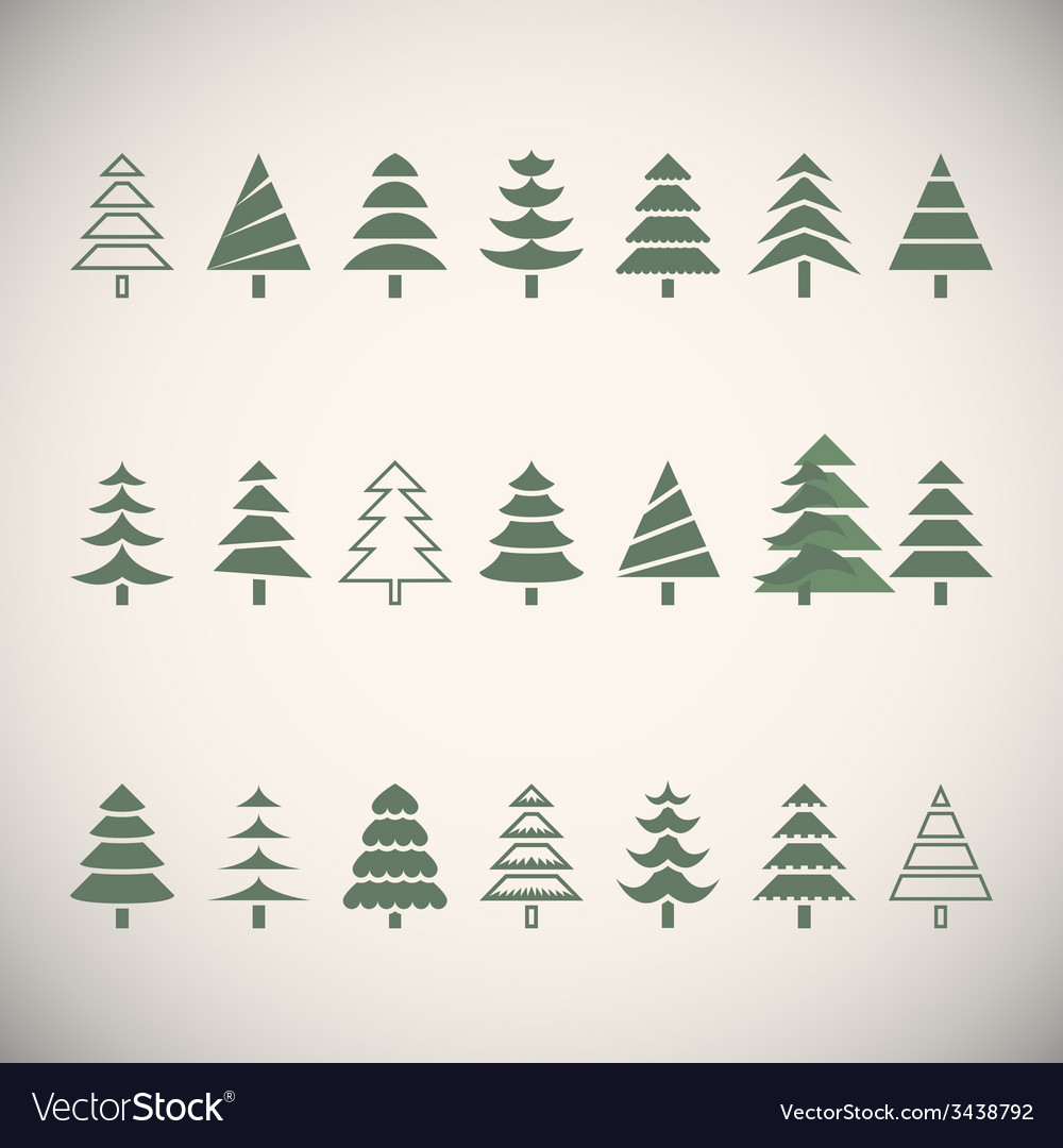 Fir trees vector | Price: 1 Credit (USD $1)