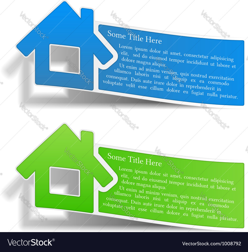 Flyers with a house vector | Price: 3 Credit (USD $3)