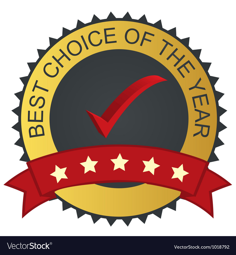 Label - best choice with checkmark tick vector | Price: 1 Credit (USD $1)