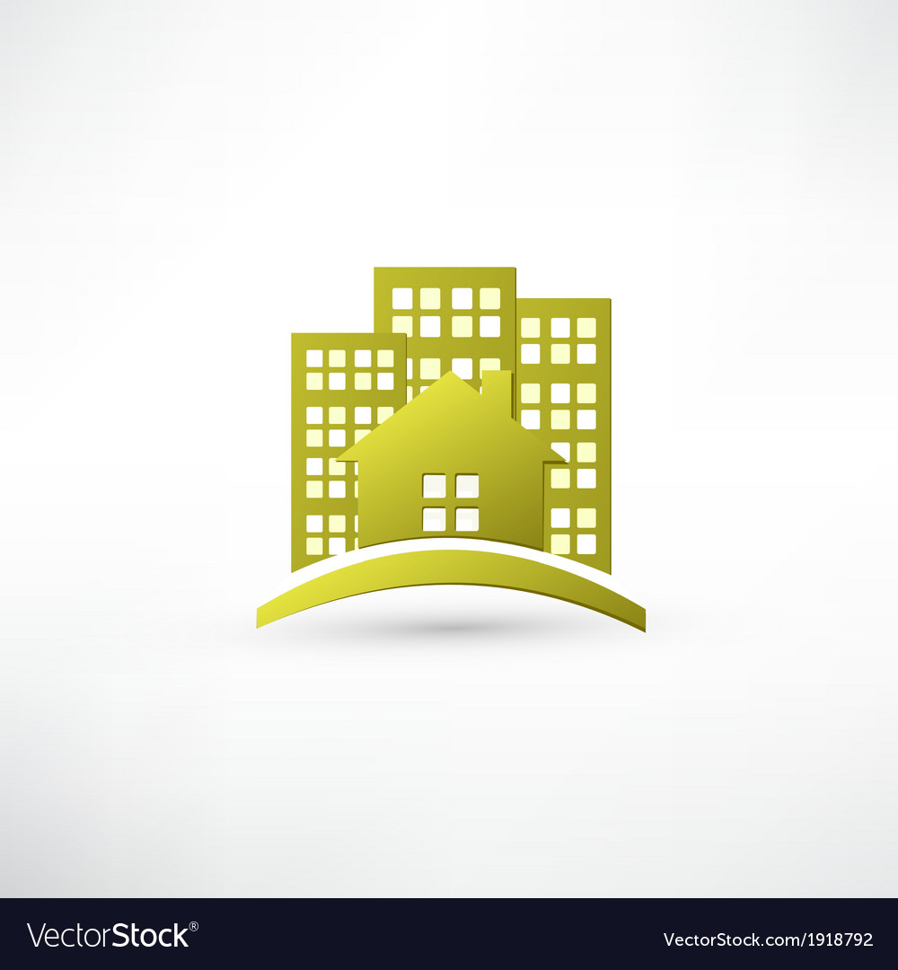 Modern real estate buildings design vector | Price: 1 Credit (USD $1)