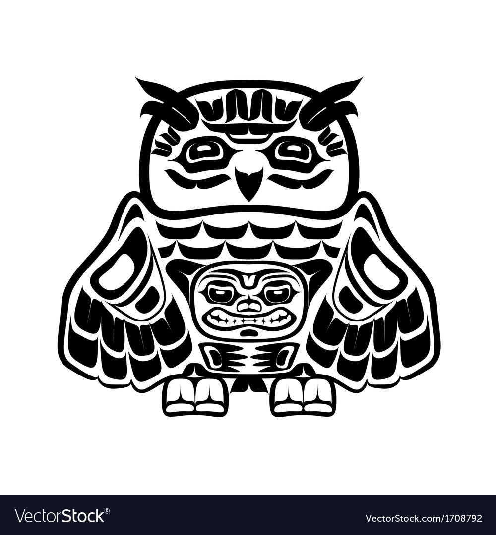 North american native art owl vector | Price: 1 Credit (USD $1)
