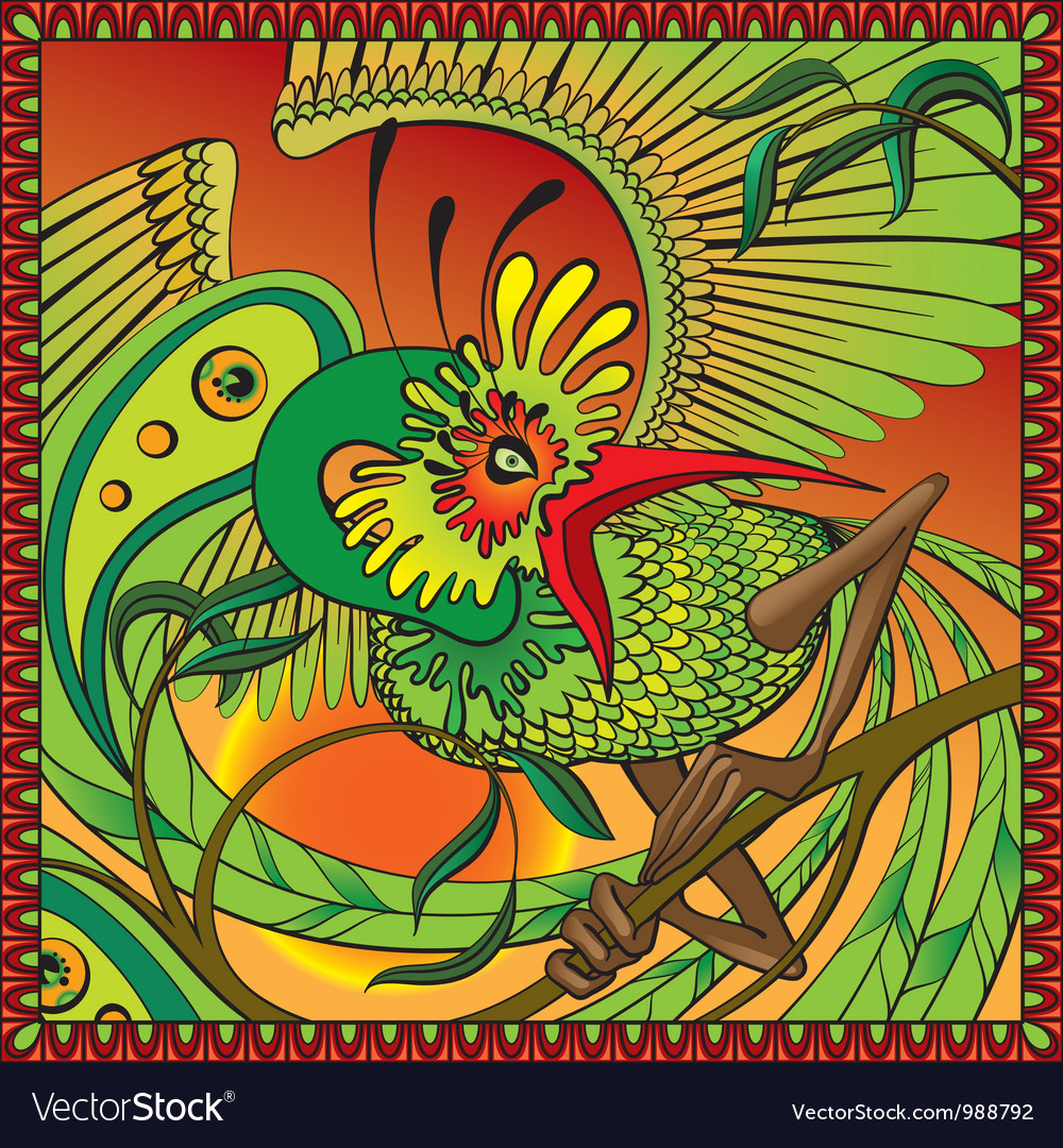 Phoenix on the branch vector | Price: 5 Credit (USD $5)