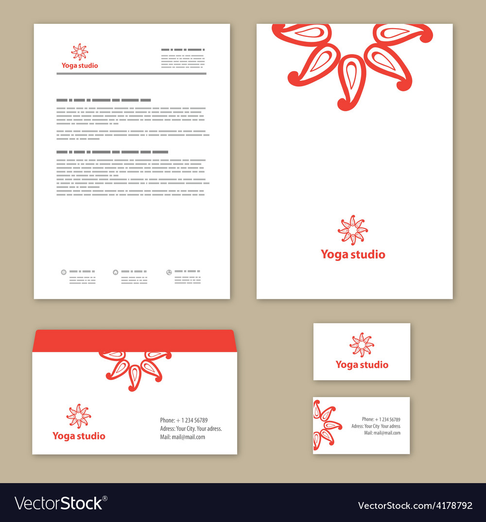 Template corporate style with a round ornament vector | Price: 1 Credit (USD $1)