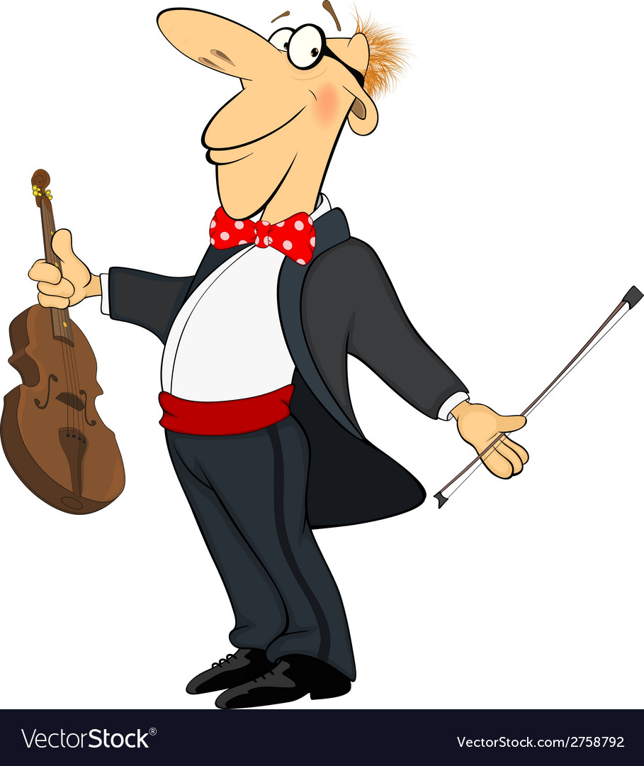 Violinist cartoon vector | Price: 1 Credit (USD $1)