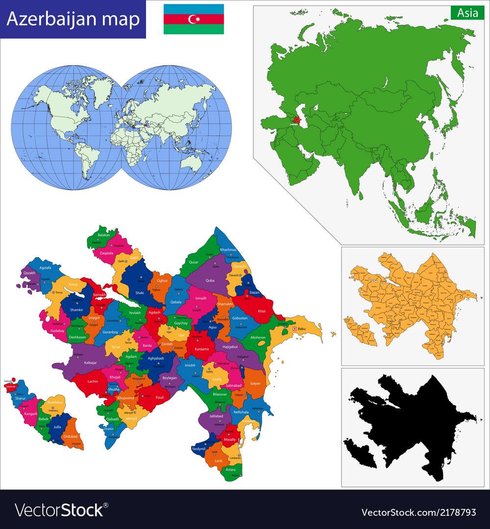 Azerbaijan map vector   Price: 1 Credit (USD $1)