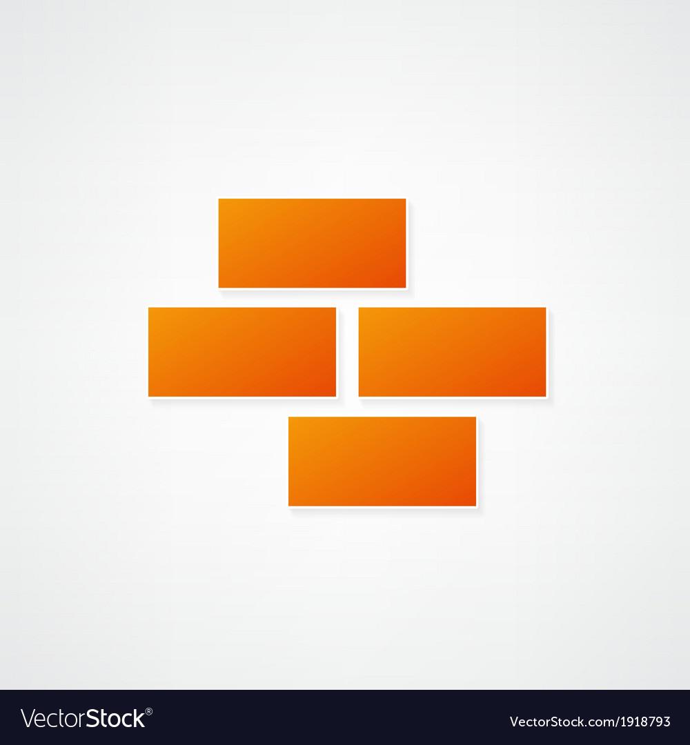 Brickwork icon vector | Price: 1 Credit (USD $1)