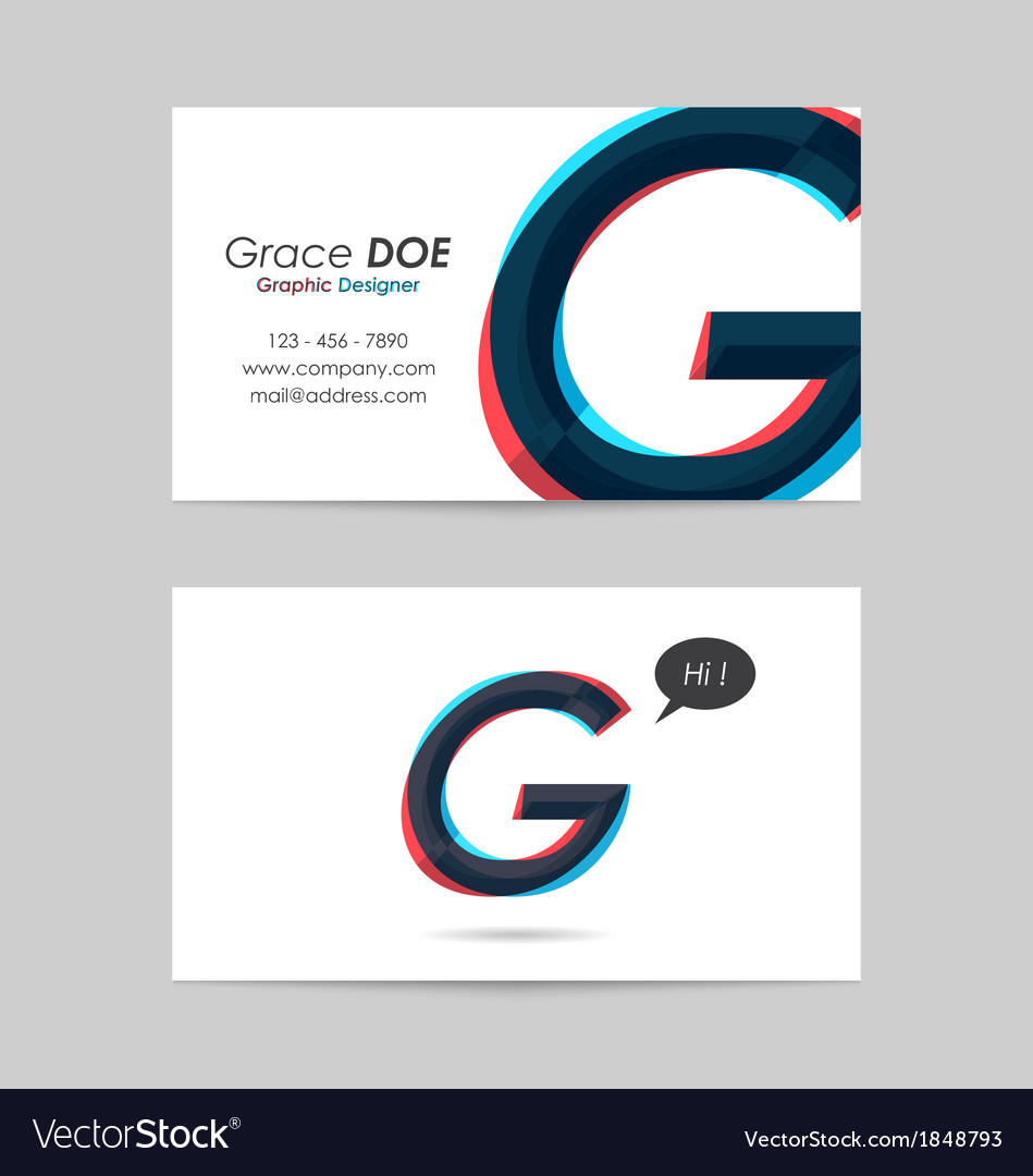 Business card template - letter g vector | Price: 1 Credit (USD $1)
