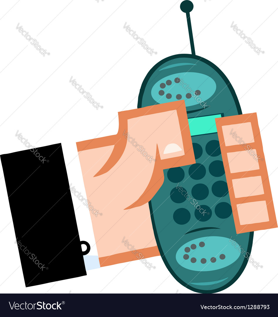Business hand with cell phone vector | Price: 1 Credit (USD $1)