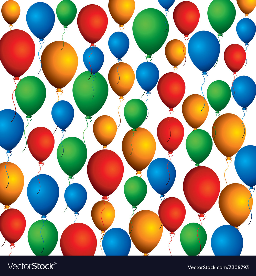 Colorful balloon background pattern vector | Price: 1 Credit (USD $1)