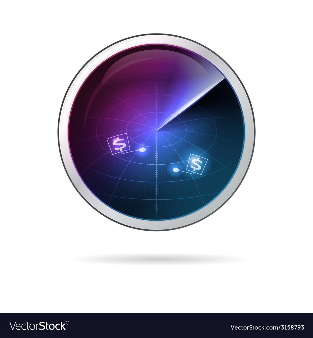 Conceptual of business radar vector | Price: 1 Credit (USD $1)
