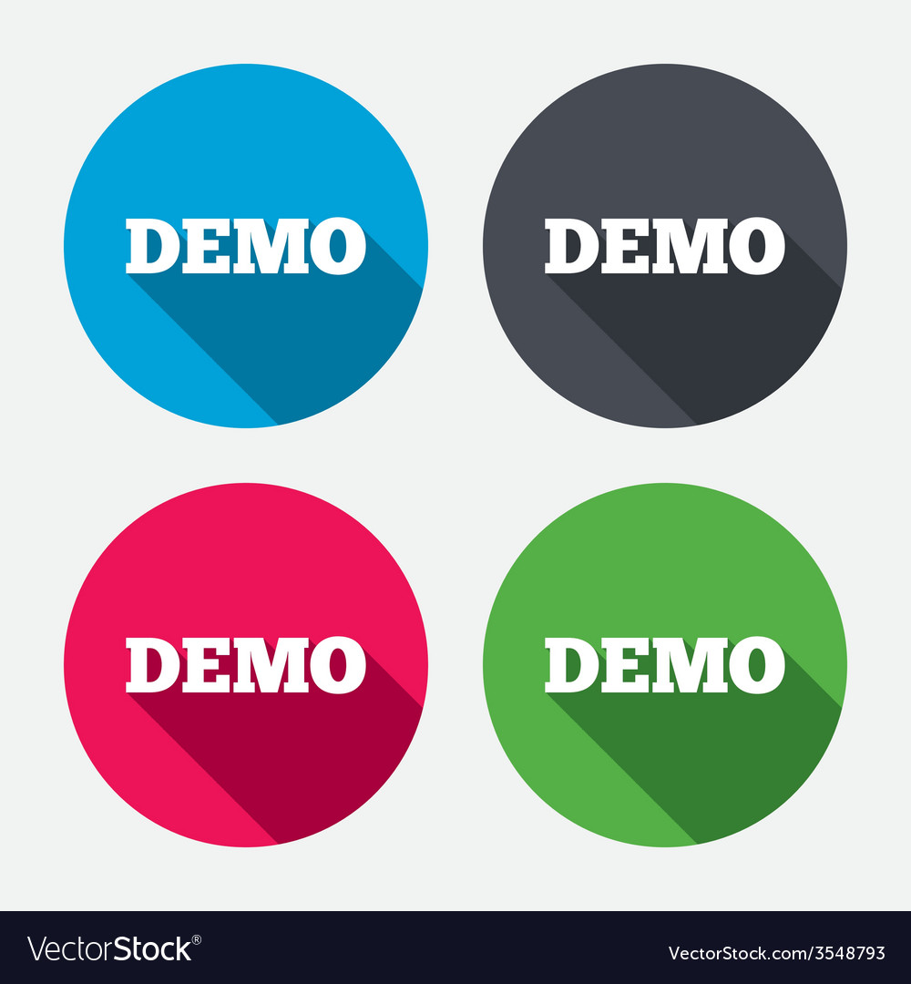 Demo sign icon demonstration symbol vector | Price: 1 Credit (USD $1)