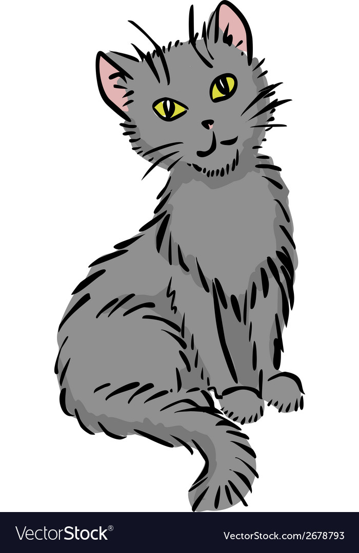 Sitting cat vector   Price: 1 Credit (USD $1)