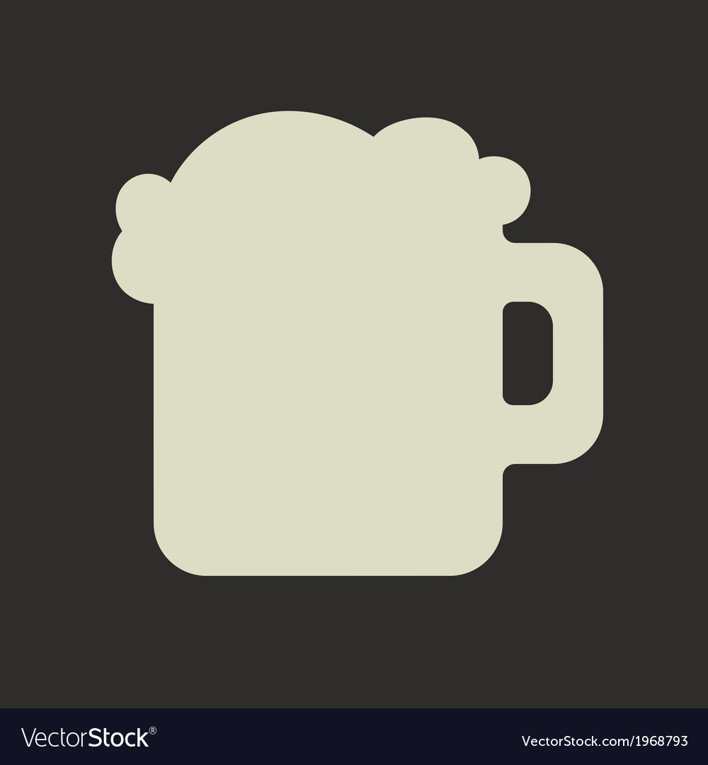 Stylized silhouette of glass mug with green beer vector | Price: 1 Credit (USD $1)
