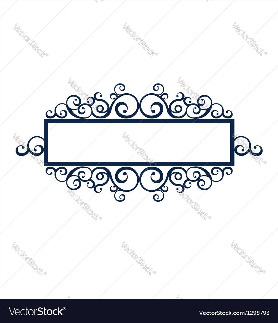 Vintage frame scroll vector | Price: 1 Credit (USD $1)