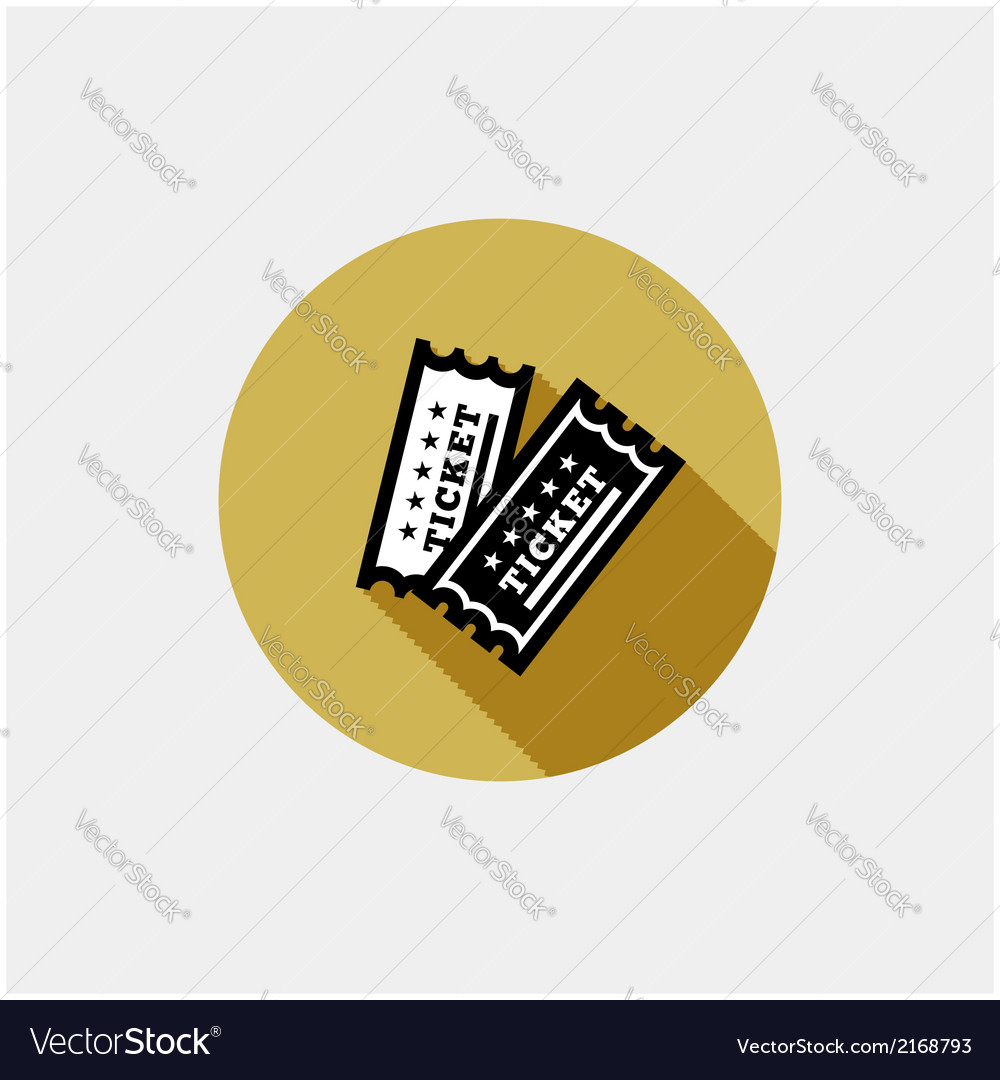 Vintage ticket icon vector | Price: 1 Credit (USD $1)